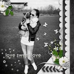 5/10/13 Digital Scrapbooking LOTD: Todays Layout of the Day is Love Sweet Love by VanillaDesignz