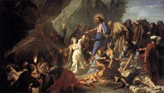 Resurrección de Lázaro (Jouvenet) En 1706. Y se exhibe en el Museo del Louvre, París.