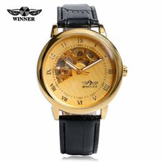 >> Click to Buy << T-WINNER Luxury Gold Skeleton Mechanical Watch Men Fashion Dress Hand-winding Date Day Watches Gift Relogio Masculino W151901 #Affiliate