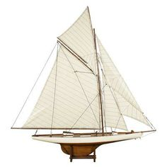 A yacht model captures the essence of seaside style in one go. | $188