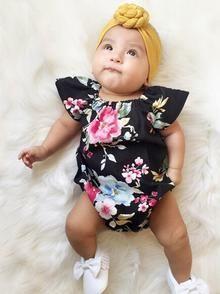 Love Africa Infant Baby Boys Girls Crawling Suit Sleeveless Romper Bodysuit Onesies Jumpsuit Black
