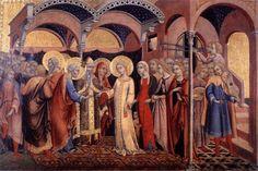 190. Sano di Pietro - Sposalizio della Vergine - 1448-52 - Roma, Pinacoteca Vaticana
