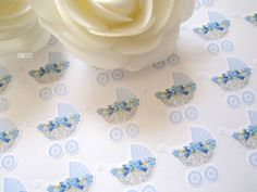 Baby Shower Boy Envelope Seal stickers for invitations, party favours 35 pcs