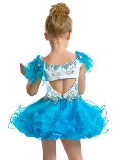 Short Ruffled Pageant Dress Perfect Angels 1459: PageantDesigns.com
