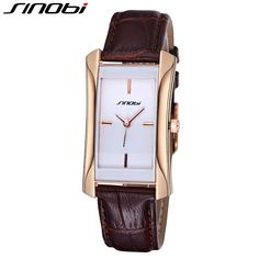 SINOBI Luxury Brand Leather Watch Women Rectangle Fashion Watch Relogio Feminino Women's Casual Wrist Watches Montre Femme 2017 #Affiliate