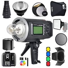 """Godox AD600BM Bowens Mount 600Ws GN87 1/8000 HSS Outdoor Flash Strobe Monolight with X1S Wireless Trigger/ 32""""X32""""Softbox/ Standard Reflector and Grid/Barn Door/ 32"""" 5-in-1 Reflector/ Large Snoot"""