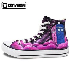 Hand painted Doctor Who Converse Sneakers  #genuineconverse #converse #handpainted #doctorwho #supercool #sneakersaddict #cherrydolltoamerica #afterpayobsession