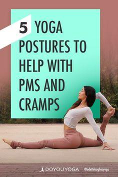 5 Yoga Postures to Help With PMS and Cramps - sicknessnhealth Bikram Yoga, Restorative Yoga, Yoga Poses For Beginners, Yoga Teacher Training, Yoga Tips, Yoga Routine, Yoga Benefits, Yoga Sequences, Yoga Flow