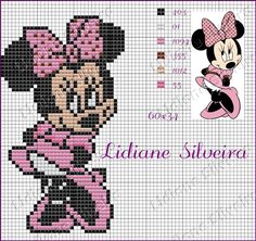 Pinta e Borda (Lidiane Silveira): Minnie!!!