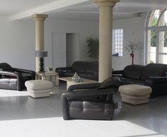 Photo Deco : Salon Blanc Moderne Maison Contemporaine Coloree ...