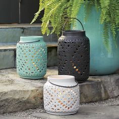 Whisteria Ivory Lantern | Crate and Barrel Can't wait to get the aqua one tomorrow!!
