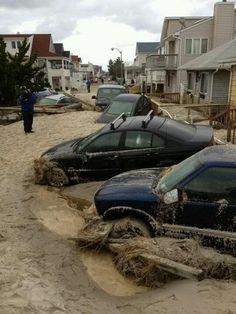 After Hurricane Sandy, Long Island NY