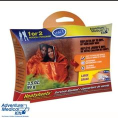 Cover: Adventure Medical Kits survival blanket (large, 2 person) [carry 2]