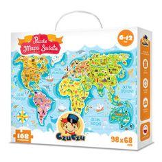 CzuCzu. Puzzle. Mapa świata-Opracowanie zbiorowe