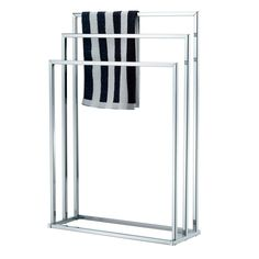 NEW CHROME FREE STANDING 3 BAR TOWEL RAIL BATHROOM RACK HOLDER FLOOR STAND | eBay