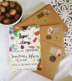 Lapo & Irene Wedding Invitation Handmade by Frenk