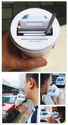 Pollution is closer than you think - Clever environmental message!