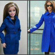 Blue coat inspired by Victorias Secret design fordollswithlove barbieclothes coathellip Sewing Barbie Clothes, Barbie Clothes Patterns, Clothing Patterns, Doll Clothes, Barbie Dress, Barbie Doll, Couture Vintage, Diy Barbie Furniture, Barbie Accessories