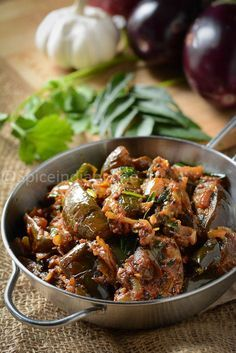 Brinjal fry is like a staple in our home, they pair very well with any kind of South Indian meal. Some vegetarian days calls for some good side dish to go with … - Brinjal Fry - Ennai Kathirikkai Masala — Spiceindiaonline Paneer Masala Recipe, Paneer Recipes, Veg Recipes, Curry Recipes, Indian Food Recipes, Cooking Recipes, Spicy Recipes, Brinjal Recipes Indian, Indian Eggplant Recipes