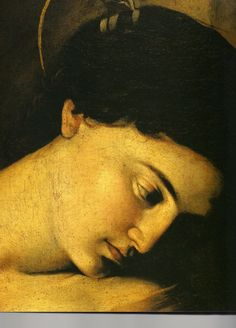 "Detail from Caravaggio's ""Madonna of Loreto"", c.1604."