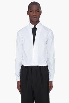 Mugler Black Placket Square Shirt for men | SSENSE