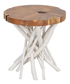 Look at this Liberte Round Side Table on #zulily today!