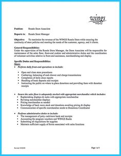 Retail Assistant Manager Resume Examples  cover letter resume     JacobsenAviation
