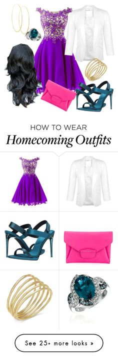 """Esmerelda Inspired Homecoming"" by abstractdisbey on Polyvore featuring Burberry, Miss Selfridge, LE VIAN, Lana, Lauren Ralph Lauren and Givenchy"