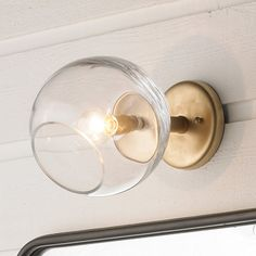 Young House Love Wonky Glass Wall Sconce gold