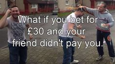 Bizarre video this man having eggs smashed on his head for a £30 bet – but does his pal pay up?