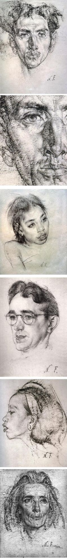 Drawing tutorials for head and hands; Andrew Loomis