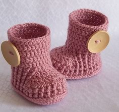 Crochet baby booties boots for 0 to 3 month or  3 by kristine1986, $16.00