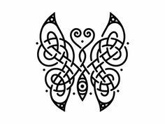 Tribal Tattoos, Tattoos Skull, Butterfly Flowers, Butterfly Design, Celtic Motherhood Knot, Irish Tattoos, Celtic Knot Designs, Celtic Patterns, Carving Designs