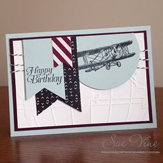 Sue Vine | Stampin' Up! | MissPinksCraftSpot | 2016 Sale-a-Bration Catalogue | Sky Is The Limit | Handmade Card