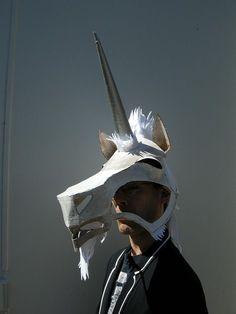Unicorn Mask by Octodrone, via Flickr