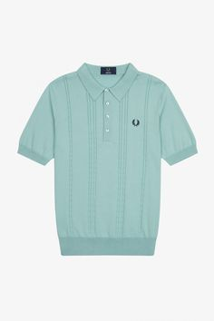 Cable Knit Shirt | Fred Perry EU Tennis Shirts, Sports Shirts, Fred Perry, Knit Shirt, Knitting Designs, Cable Knit, Me Too Shoes, Sportswear, Men Casual