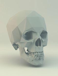 Poly skull 3d printed skulls 3d 3dprint 3dprinting for Polygon produktdesign