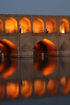 Si-o-Seh Pol (Bridge of 33 Arches), Esfahan, IRAN. (by Rowan Castle)
