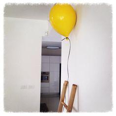 Yellow ceramic balloon by S.Sternbach at Galerie Rive Gauche #www.rivegauche.be #www.facebook.com/galerierivegauche