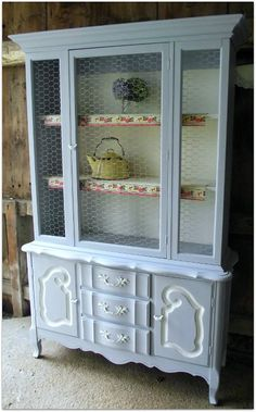 French Cottage Hutch by The Upcycle Furniture Co.  Princeton, Massachusetts  http://www... pinned with Pinvolve