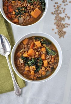 Lentil, Sweet Potato and Kale Soup