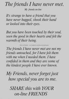 The Friends I have never met
