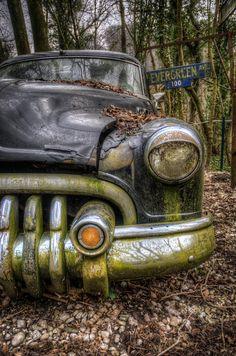 Pontiac is a piece of digital artwork by Nathan Wright. Old car graveyard. Source fineartamerica.com