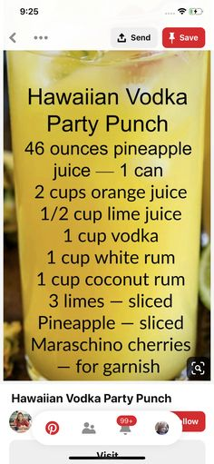 Mixed Drinks Alcohol, Alcohol Drink Recipes, Vodka Drinks, Party Drinks, Cocktail Drinks, Fun Drinks, Yummy Drinks, Cocktail Recipes, Cocktails