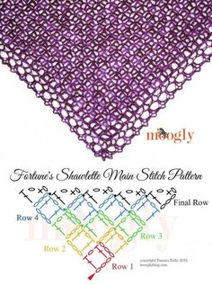 Knitting Patterns Scarves How To Crochet Shawl Poncho Au Crochet, Crochet Shawl Diagram, Poncho Knitting Patterns, Crochet Shawls And Wraps, Crochet Stitches Patterns, Crochet Chart, Crochet Scarves, Crochet Motif, Crochet Clothes