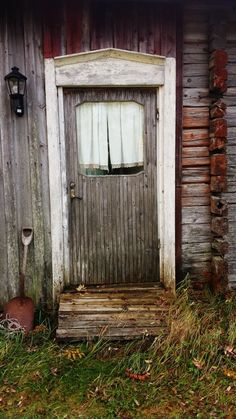Door to an old cottage in northern Sweden♥