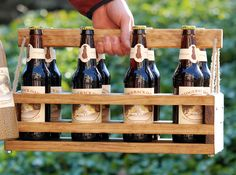 Handmade Wood 8-Bottle Beer Carrier-- Homebrew Gift. $60.00, via Etsy.