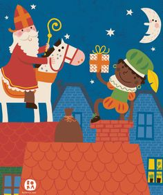 Bora illustrations / Sinterklaas cover for Doremi (Belgian magazine)