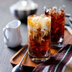 Great Cocktail Recipes Colorado Bulldog This sparkling and creamy adult treat packs a delicious punch.   Ice 1 ounce vodka 1 ounce coffee flavored liqueur 6 ounces cola; regular or diet 2 ounces Silk for Coffee