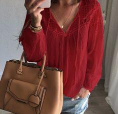 Autumn Crochet Blouse